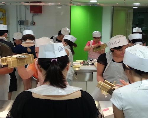 Learning Japanese cuisine at Tokyo Sushi Academy