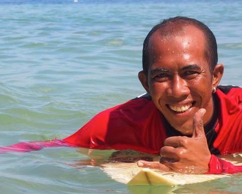 Blue Crush (Crash) at Padang-Padang Surf Camp