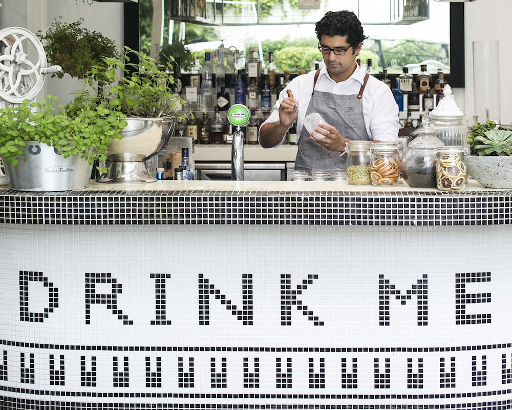 Bar Review: Down The Rabbit Hole Into Singapore's Only Gin Garden Bar, Dempsey Hill