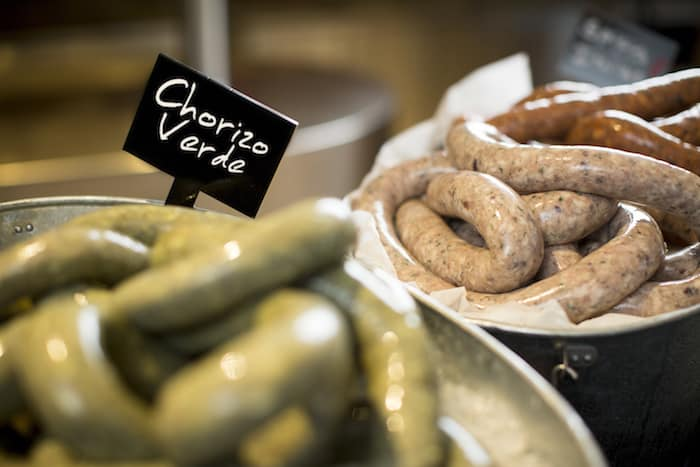 House-made Sausages at Seasonal Tastes' Lazy Lunch