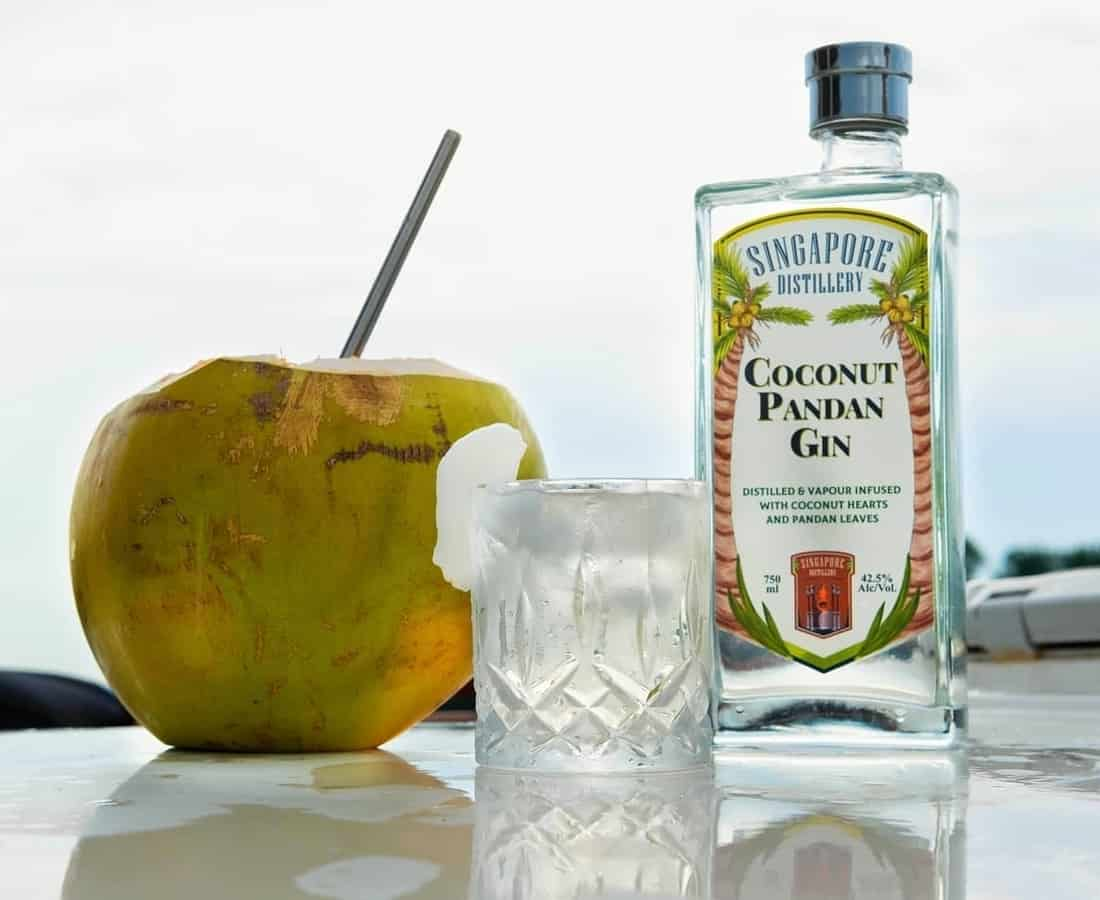 Singapore Distillery Bottles The Local Spirit With Coconut Pandan And Singapore Sling Gins